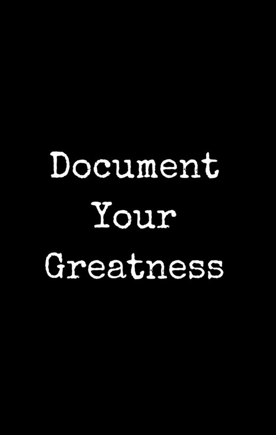 Document your greatness full cover