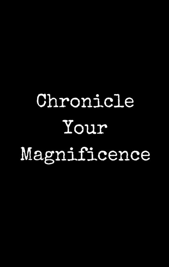 chronicle your magnificence full cover